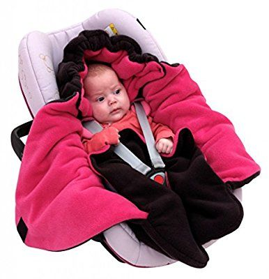 ByBoom® - Swaddling Wrap, Car Seat and Pram Blanket for Winter, Universal for infant and child car seats (e.g. Maxi-Cosi, Britax), for a pushchair/stroller, buggy or baby bed; THE ORIGINAL WITH THE BEAR, Color:Grey/Blue