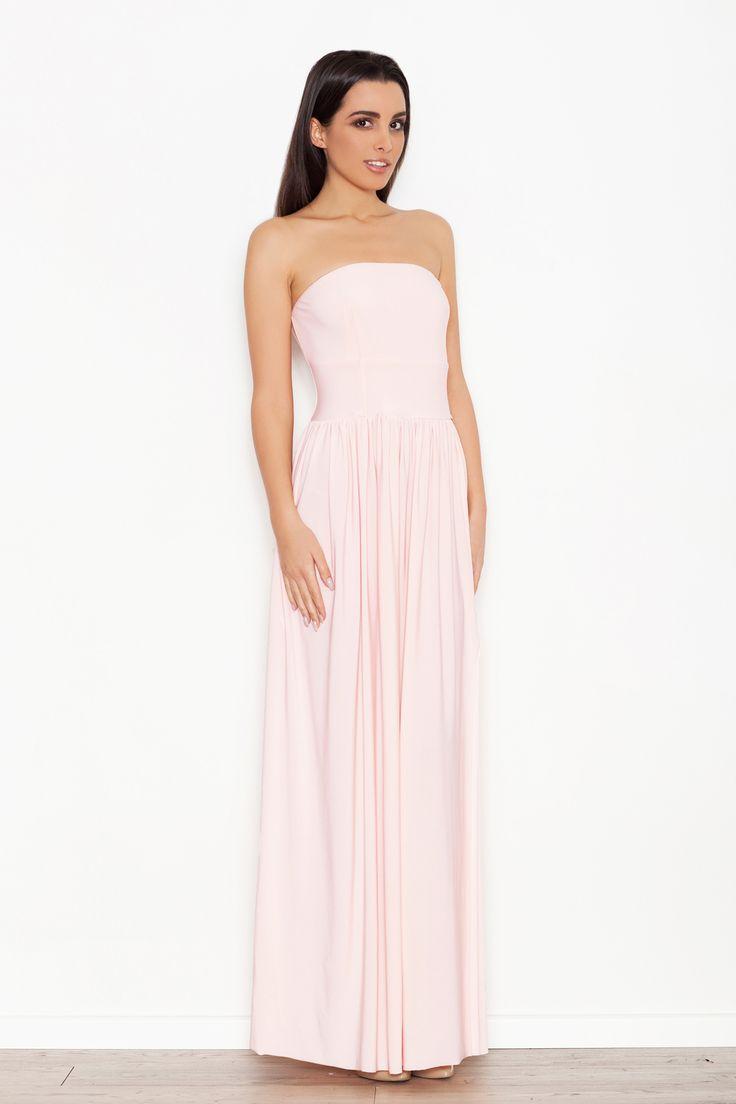 Różowa sukienka maxi na wesele