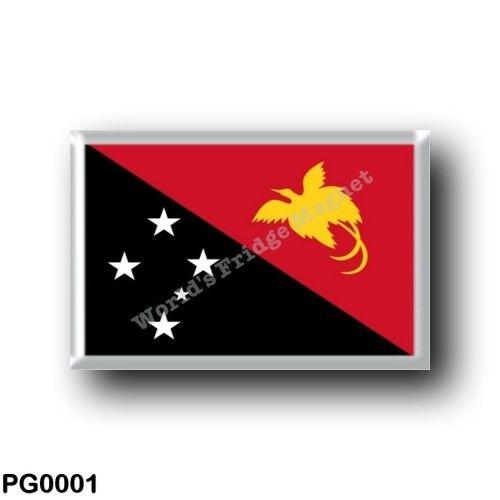 PG0001 Oceania - Papua New Guinea - Flag