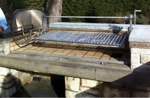 Argentine Grill Kit With Side Brasero Drip Pan Cables