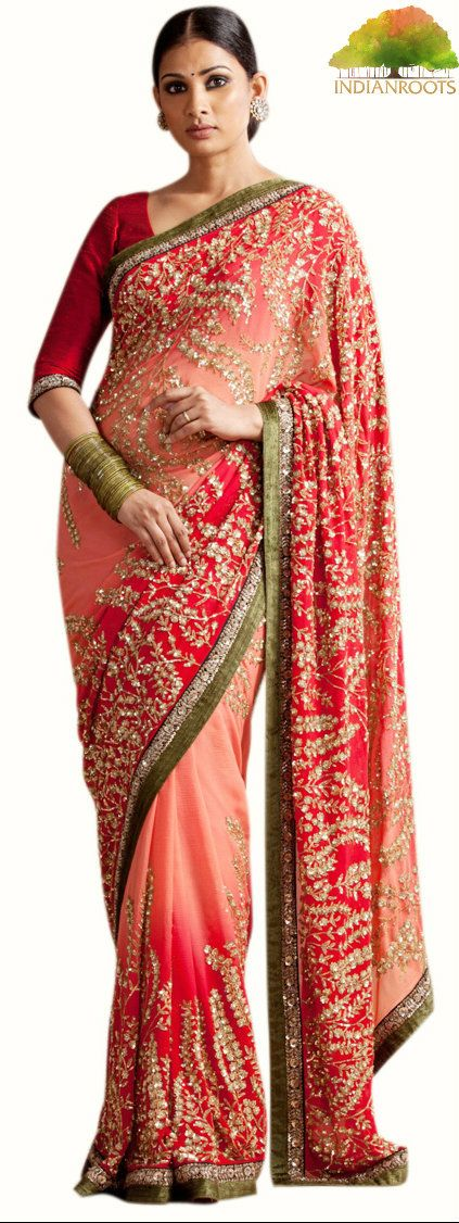 The Jhilmil Saree by Sabyasachi at Indianroots.com