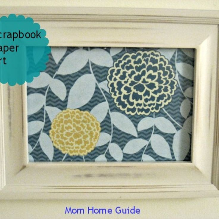 Colorful Framed Scrapbook Paper print in a coordinating painted frame. DO THiS!!