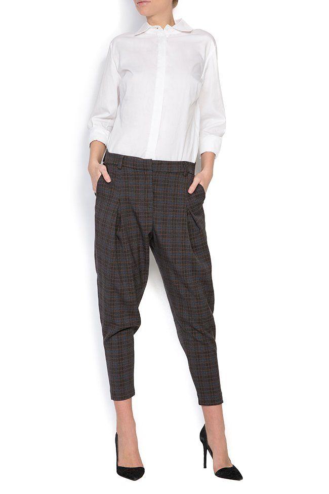 Pantaloni din tartan cu patratele Lova Shakara imagine 0