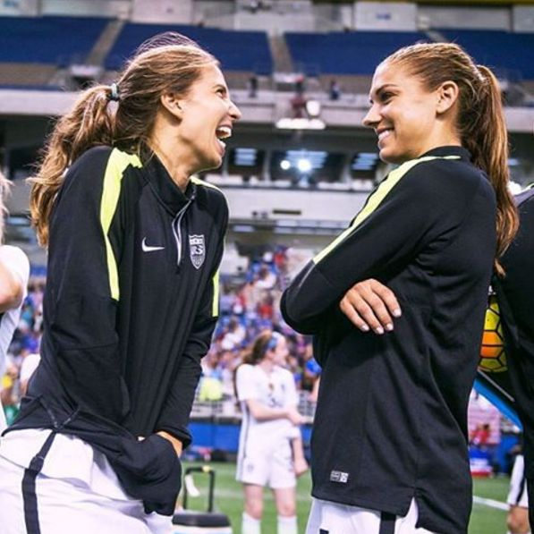 Tobin Heath and Alex Morgan. (Instagram)