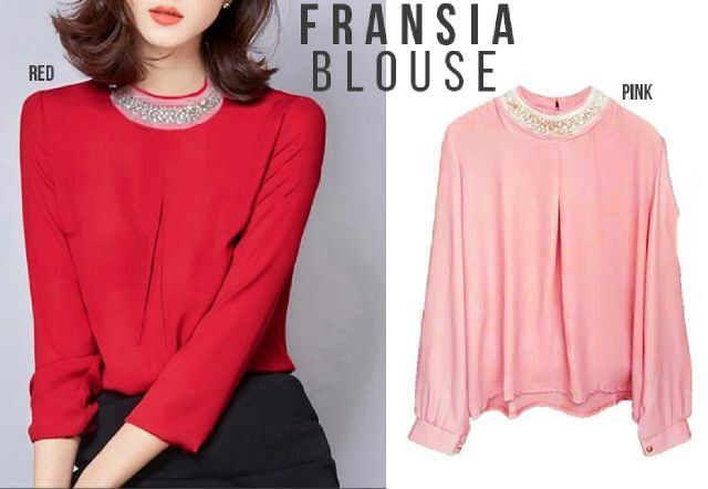 Jual Baju Atasan Wanita Fransia Blouse Keren - http://www.butikjingga.com/baju-atasan-wanita-fransia-blouse