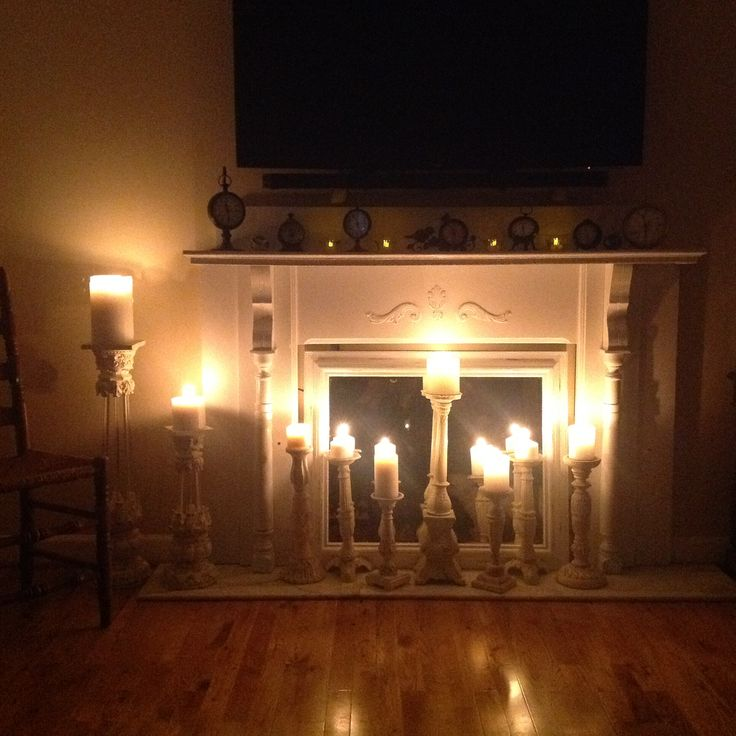 25 Creative Candles In Fireplace Ideas To Discover And Try On Pinterest Fireplace With