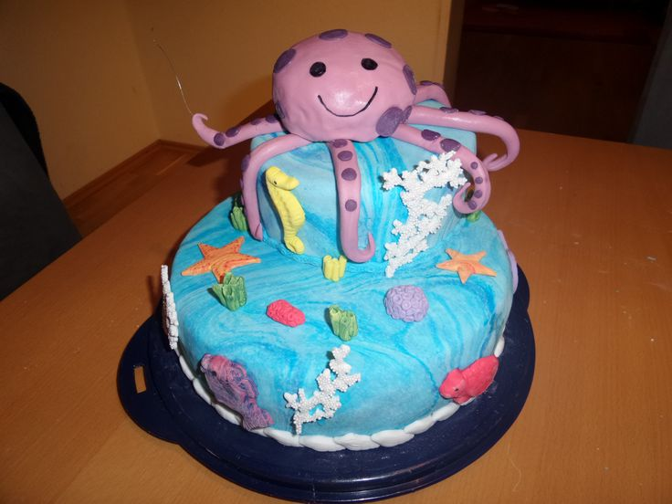 Ocean Cake with octopus