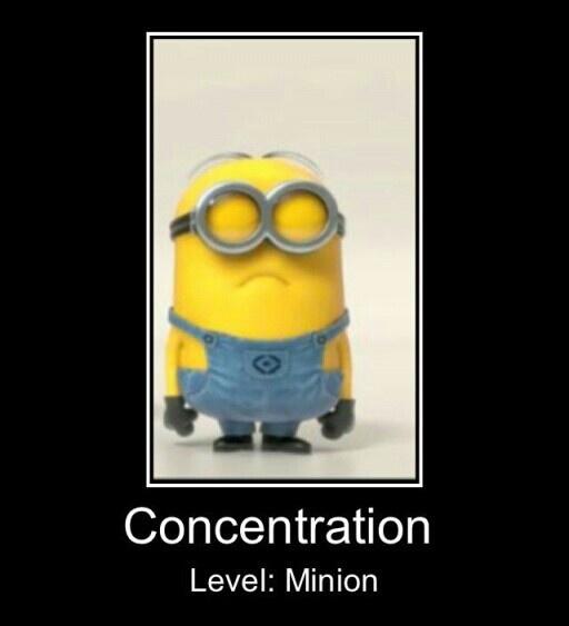 Minion Concentration Despicable Me Movie July 2013