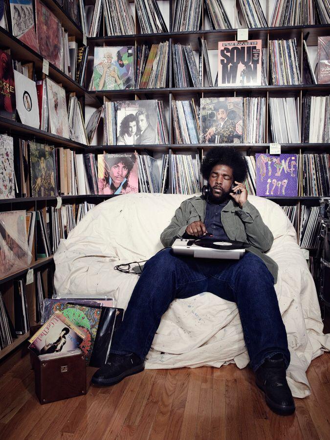 ?uestlove's vinyl room/WOW,JUST WOW .BBQDAVE