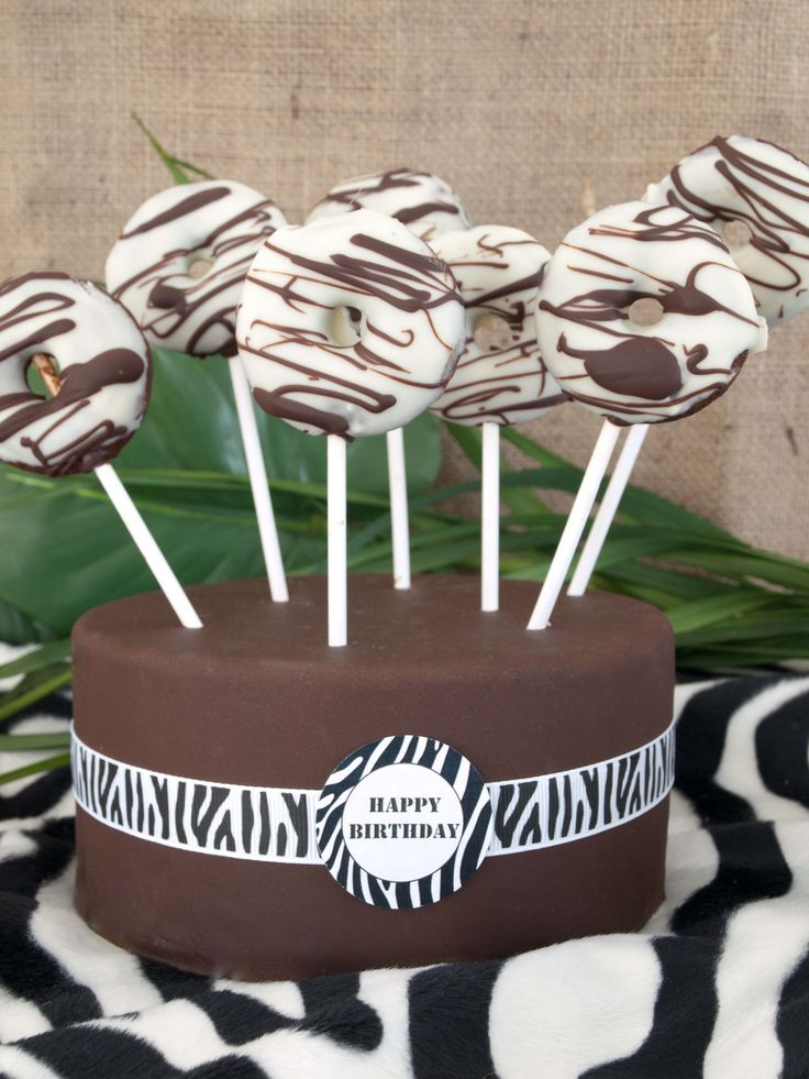 Zebra-Mini-Donut von Lovely Bakery! Safari-Party by decorize.de
