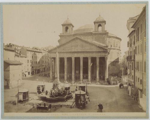 Italie-Roma-Panteon-d-039-Agrippa-Vintage-albumen-print-Tirage-albumine