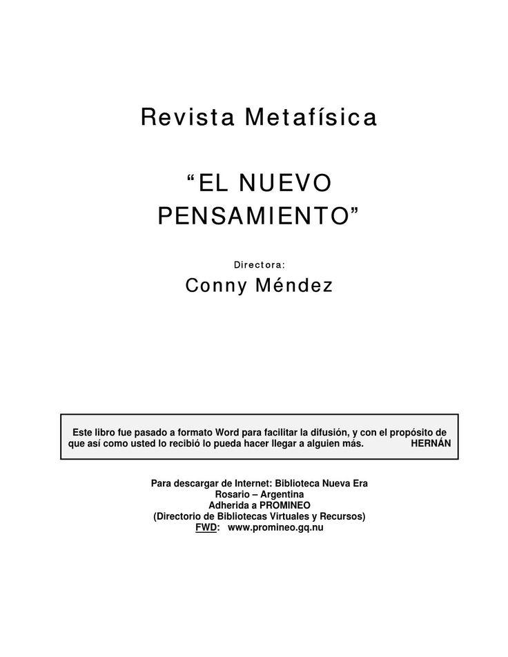 Conny Méndez - Nuevo pensamiento