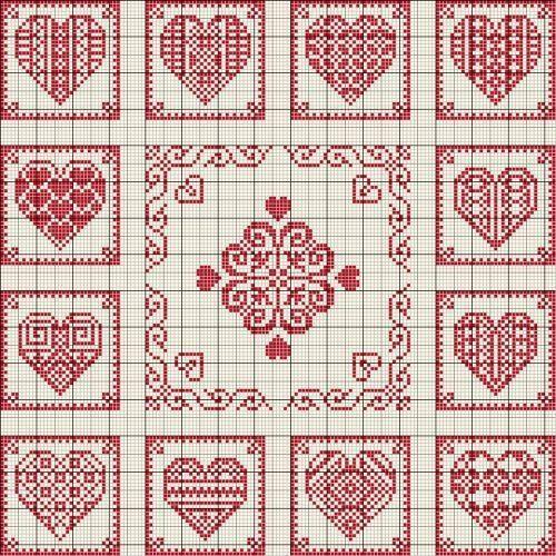 Gallery.ru / Photo # 194 - Hearts (scheme) - Olgakam