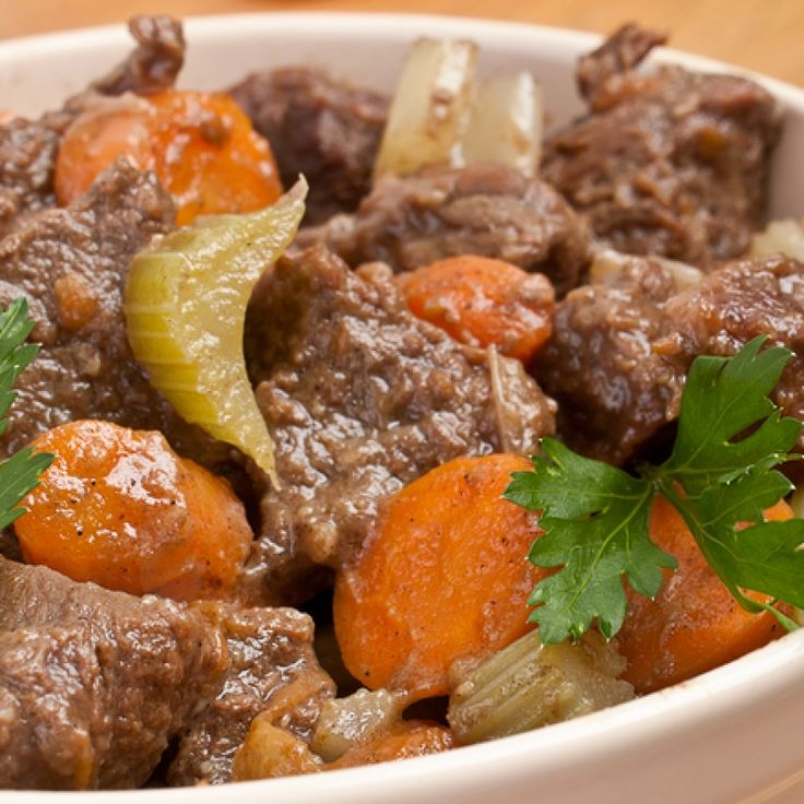 This chunky beef stew recipe has some very tasty ingredients, one of them peanut butter.  A really interesting mix of flavors and worth of a try!