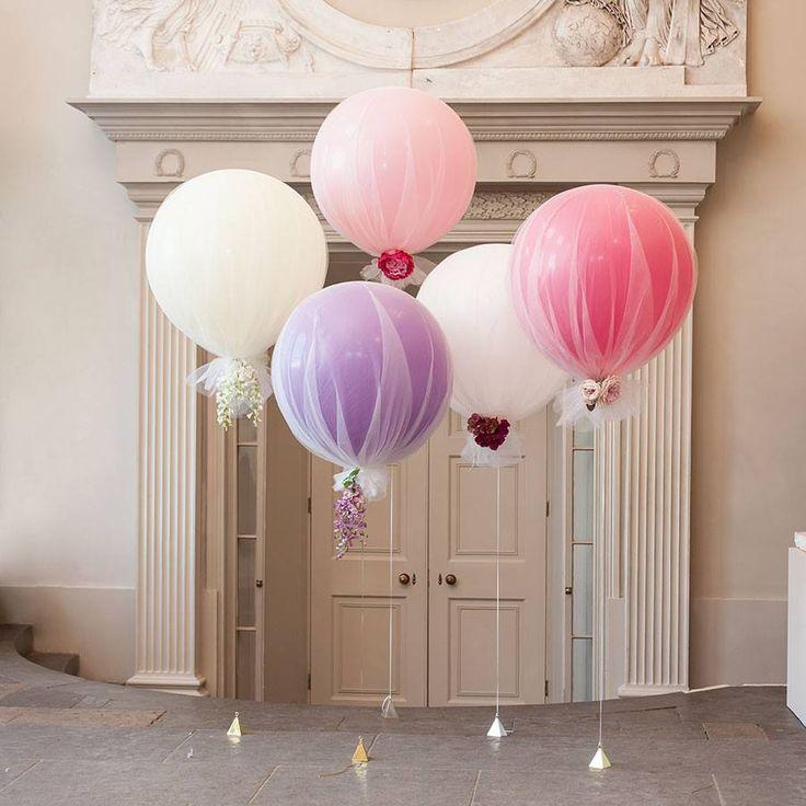 25 best ideas about tulle balloons on pinterest tulle for Balloon decoration ideas youtube