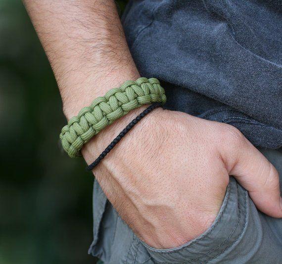 Adjustable Paracord Survival Bracelet Mad Max Inspired UK Seller Black