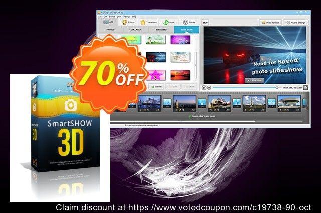 SmartSHOW 3D Deluxe Coupon 70% discount code, Int  Working