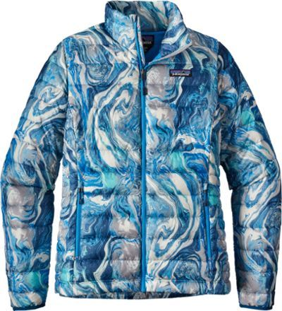 Patagonia Women's Down Sweater Jacket Big Sur Blue/Rivermouth XXS