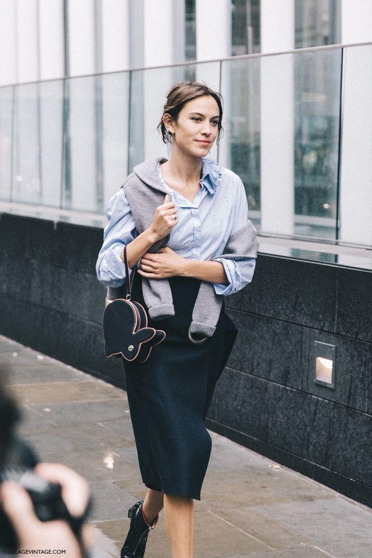 Alexa Chung London Fashion Week for Spring/Summer 2016 - Street Style