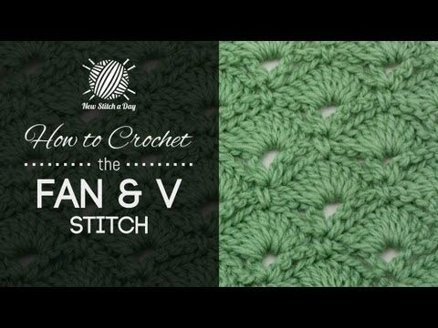 ▶ How to Crochet the Fan and V Stitch - YouTube