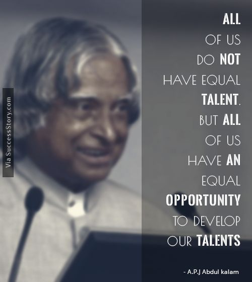 16 Most Popular Inspirational Quotes from A.P.J Abdul Kalam - Success Story