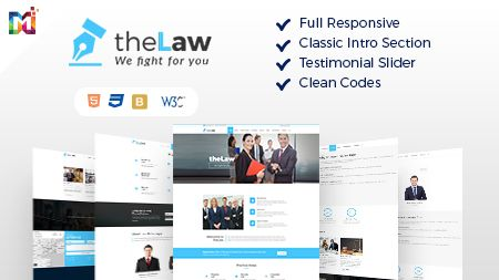 Corporate base a HTML Theme with law theme features includes