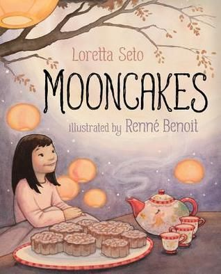 Mooncakes by Loretta Seto.  Ages 4-8.  About a young girl who shares the Moon Festival and its beautiful traditions with her parents. Significant for the importance of family and its explanation of the cultural tradition of the Moon Festival.