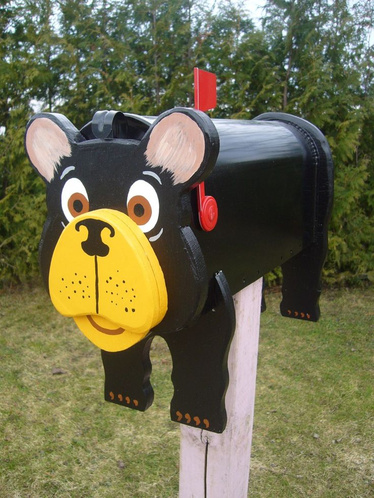 black bear mailbox decorative mailboxes pinterest crafts black and arts crafts. Black Bedroom Furniture Sets. Home Design Ideas