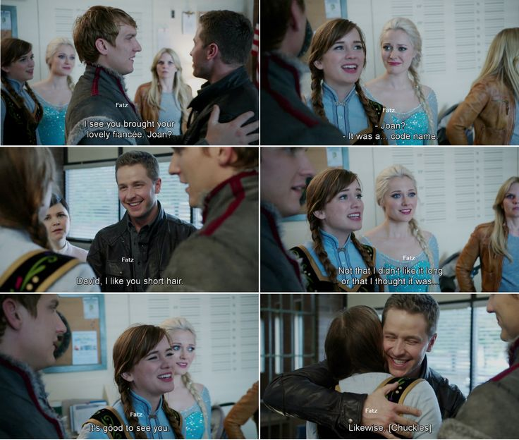 """""""I see you brought your lovely fiancee, Joan."""" David, Kristoff and Anna - 4* 9 """"The Fall."""" #ShatteredSight #OnceisFrozen"""