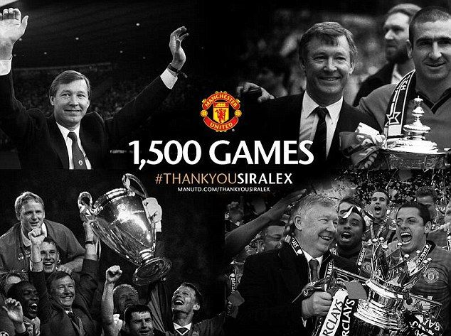 Sir Alex Ferguson will retire having taken charge of 1,500 Manchester United matches