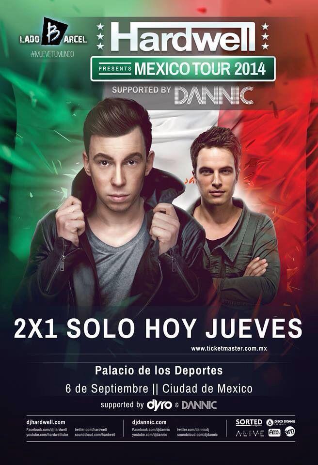 2x1!!! Hardwell suplentes by Dannic & Dyro!!- Palacio de los Deportes