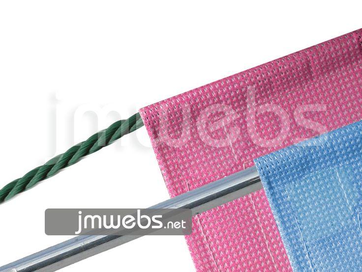Fijación por Vaina para lonas publicitarias impresas. www.jmwebs.net o Teléfono 935160047