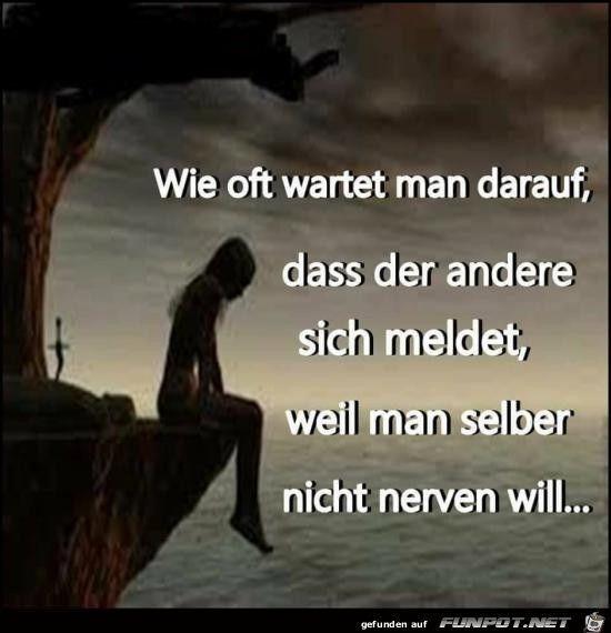 Manchmal hofft man daß sich der andere meldet, weil sämtliche Kontaktversuche fehlgeschlagen sind…!!! :-(( – Anna Schönfeld