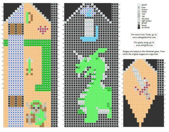 Zelda mitten pattern! www.unhingedknitter.etsy.com