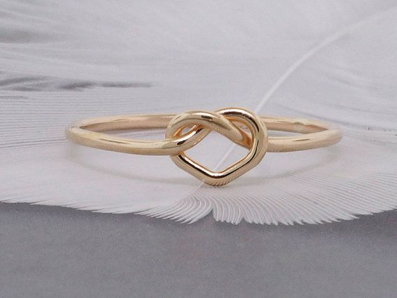 Heart ring, 14k solid gold heart ring, promise ring, commitment ring, yellow white or pink gold.