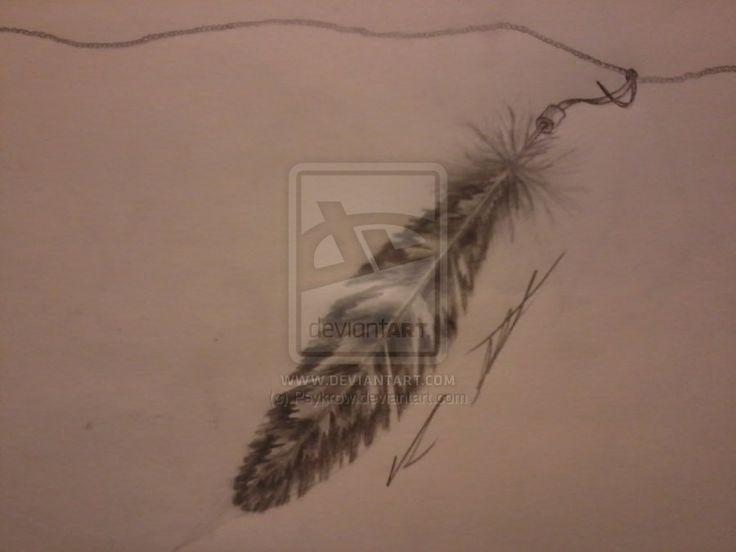 Owl Feather Tattoo sketch by Psykrow.deviantart.com on @deviantART