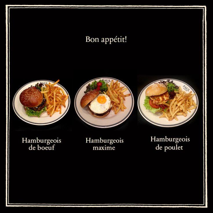 Η πρόταση της ημέρας: Χάμπουργκερ à la française σε 3 χορταστικές εκδοχές, συνοδευόμενα με σαλάτα εποχής και φρέσκες τηγανιτές πατάτες. Καλή όρεξη!