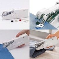 Wish | Portable Mini Smart Electric Tailor Stitch Hand- held Sewing Machine Home Travel (Color: White)