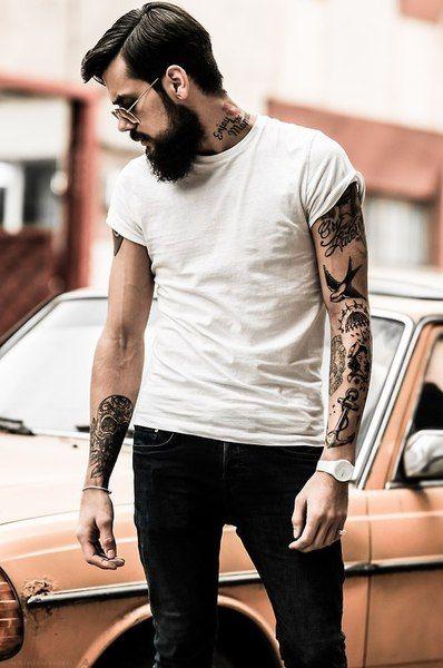 Tattoo - Traditionnal - Arm - Anchor - Skull - Bird - Women