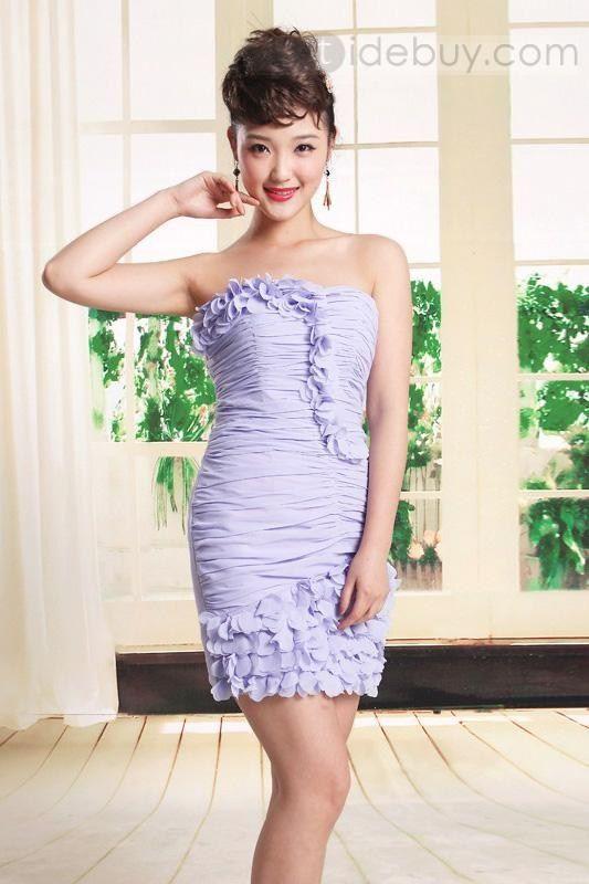 ファッションシースミニ/ショートレングスシャーリングカクテルドレス
