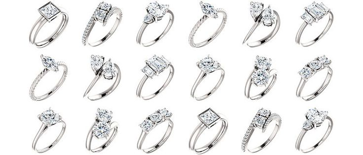 A interesting blog on solitaire, two-stone and three stone diamond engagement rings
