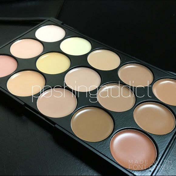 NEW 15 Colors Contour Make-Up Palette Main Features: 15 earth color face concealer.  Brand new in black palette box.  An extensive range of 15 multiple vibrant long wear concealer colors with different skin tones to create more than 10,000 amazing looks .  Using the most commonly applied shades, ensures the best skin color match and guarantees a traceless and natural finish. Make up for all ages. Makeup Concealer