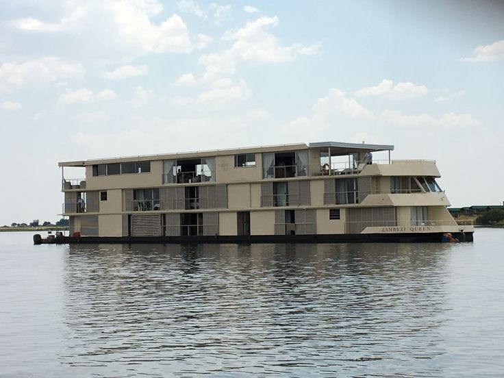 Our floating hotel - The Zambezi Queen as it sailed on the Chobe River in Botswana