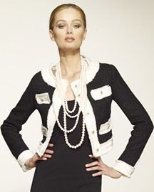 Classic Chanel jacket and pearls