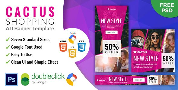 Cactus   Shopping HTML 5 Animated Google Banner - CodeCanyon Item for Sale