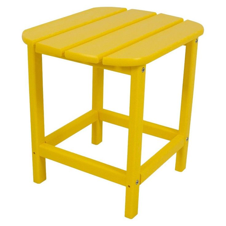 Polywood South Beach Patio Side Table Yellow