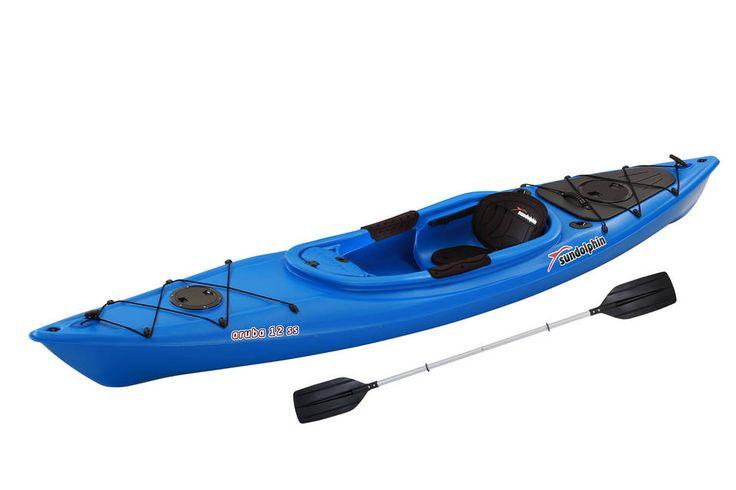 Buy Sun Dolphin Green Excursion 10' Sit In Fishing Kayak With Bonus Paddle at Walmart.com