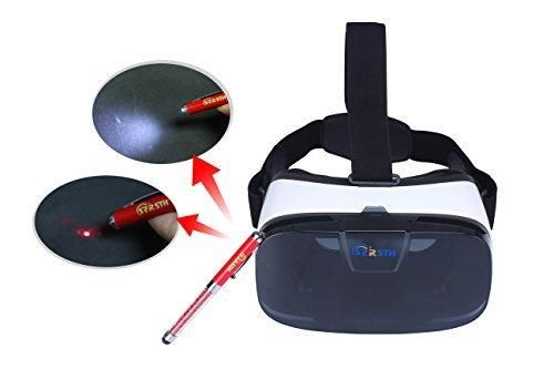RSTH Virtual Reality 3 D Glasses Video Movie Game Helmet Headset for iPhone 6 plus 6 6s 5 Samsung 46 inch Mobile Phone with Adjustable Focal/Pupil Distance