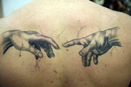 Grey Hands. The Tattoo Studio, Crayford, Bexley, London