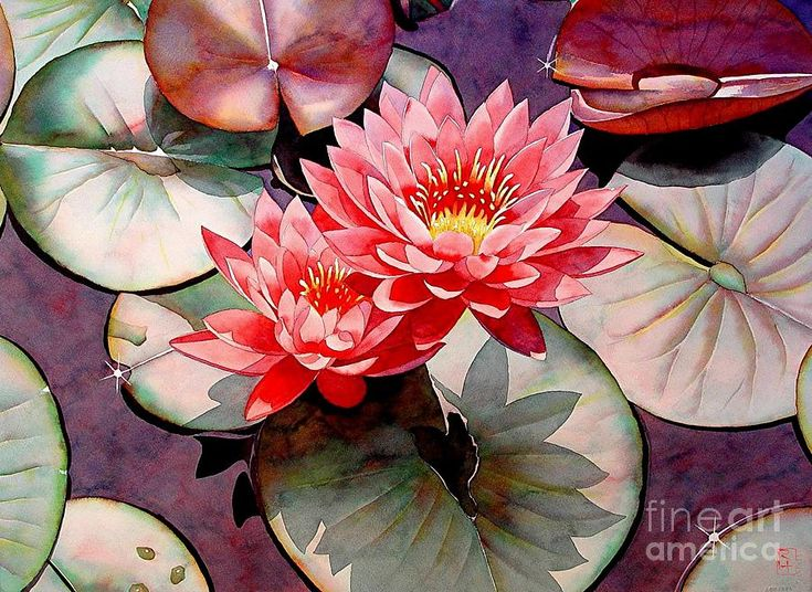 Pearls Of The Pond Painting  - Pearls Of The Pond Fine Art Print